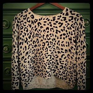 H&M cheeta print sweater